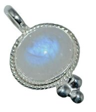 Natural Rainbow Moonstone Sterling SILVER Pendant Genuine Gemstone 925 Jewellery