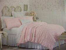 Simply Shabby Chic Pink Smocked Duvet Cover Shams Set Twin 2 pc New