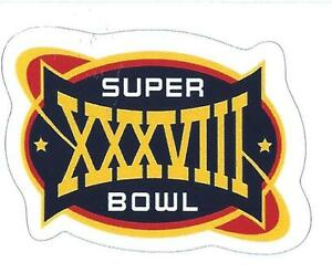 New England Patriots Super Bowl XXXVIII Logo Decal