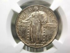 """1923 """"P"""" Standing Liberty Quarter SLQ 25c NGC MS62 East Coast Coin & Collectable"""