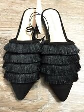 Who What Wear Annie Fringe Tassel Pointed Toe Mules Slip On Shoes Womens (6 1/2)
