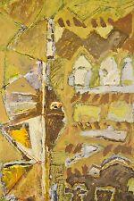 Abstraction et graffitis Peinture à l'huile signée COLAS (19)97 art contemporain