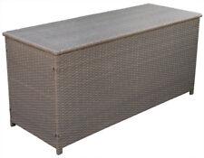 KMH® Polyrattan Kissentruhe braun 130 x 50 Auflagenbox Kissenbox Auflagentruhe