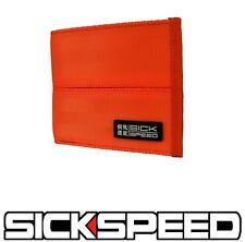 SICKSPEED WALLET SEAT BELT SEATBELT PAD RACING HARNESS BIFOLD BILLFOLD RED P4