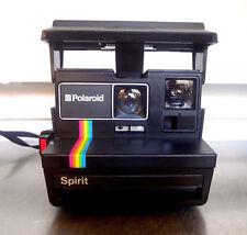 Vintage Polaroid Spirit 600 Instant Camera Rainbow Black in Working Order #8700