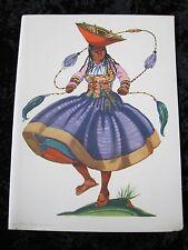 Menu Moore McCormick Lines Menu Ada Peacock Artist Peru Native Dance Blank