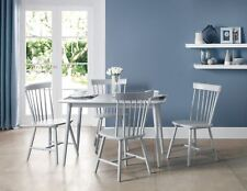 Julian Bowen Torino Grey Table & 4 Chairs Solid Wood Kitchen Dining Set