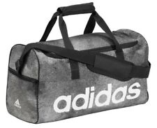 Adidas Bag Sports Gym Duffle Bag Holdall Travel Kit Bags Medium - Grey Black