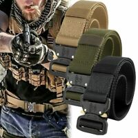 Outdoor Heavy Duty Rigger Military Tactical Belt with Quick-Release Metal Buckle
