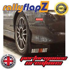 RallyflapZ MITSUBISHI LANCER EVO 7-9 Mudflaps Black Ralliart White r&o 4 mm PVC