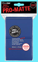 100 ULTRA PRO BLUE PRO-MATTE STANDARD SIZE DECK PROTECTORS Card Sleeves MTG