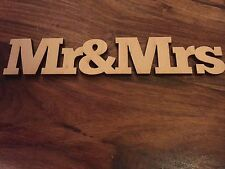 Signo De Madera Adorno Artesanía Tarjeta Scrapbook Arte Mr&Mrs