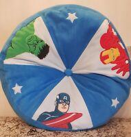 Marvel Comics AVENGERS Throw Pillow Captain America Hulk Ironman RARE-VHTF!