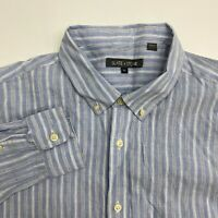 Slate & Stone Button Up Shirt Mens XXL Blue Stripe Long Sleeve Casual