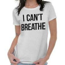 Cant Breathe Black Lives Matter BLM Protest Womens Tees Shirts Ladies Tshirts