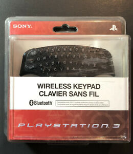 Official Sony PS3 Controller Attachment Wireless Keyboard NEW
