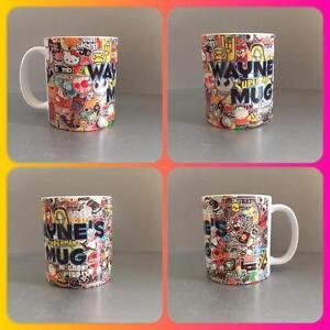 personalised mug cup bomb sticker skateboard  racing drifting drift jdm vag dub
