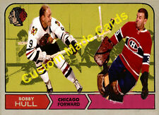Custom made Topps  1968-69 Chicago Black Hawks Bobby Hull hockey card white