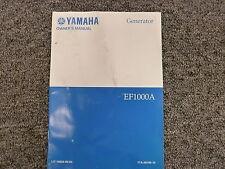 Yamaha EF1000A Portable Generator Owner Operator Maintenance Instruction Manual