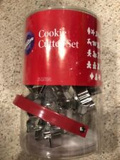 Wilton 25 Piece Metal Christmas Cookie Cutter Set Angel Star Tree Candle Train