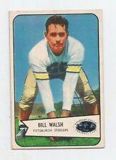BILL WALSH #96 Pittsburgh Steelers Center 1954 Bowman NM-M