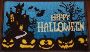 Happy Halloween Pumpkin Spooky Scary Novelty Indoor Decoration Door Mat Rug