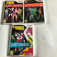 Just Dance 1, 2 & 3 / Boxed With Instructions Bundle / Nintendo WII / PAL / #1