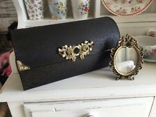 GHD HAIR STRAIGHTENERS BLACK EMPTY CHEST WITH SMALL PRETTY ORNATE MIRROR