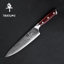"TAKUMI Japanese Damascus Knife, 8""/20cm Gyutoh Chef Knife - HMD5000"