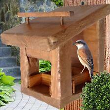 Mangiatoia per uccelli - prodotto artigianalmente da legname recuperato
