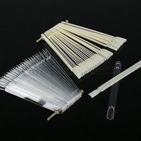 50*Nail Art Tips Display Fan Board False Stick Display Polish Color Design Chart
