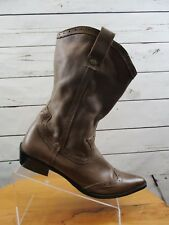 Ladies Harley Davidson Red Sole Pointed Toe Leather Cowboy Fashion Boots sz: 9