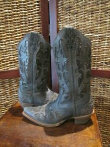 womens TWISTED X cowboy style leather boots SZ 8 B