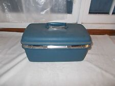 JC Penny Samsonite Overnight Makeup Suitcase Blue Hardshell
