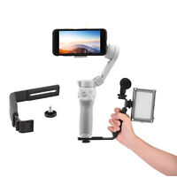 Metal Extension Rod LED Light Microphone Bracket Mount for DJI Osmo Mobile 4 3 2