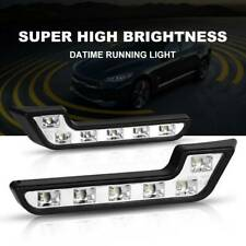 12V 6LED White Daytime Running Light DRL Car Fog Day Driving Front Turn Lamp UK
