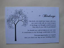 Birdcage Cards/Wishing well #1  Wedding Engagement 20pk