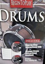 Begin to Play: Drums NEW DVD, BOOK, CD BOX SET, Learn to Play, Step by Step