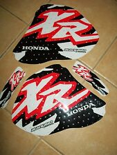 NEW HONDA XR 250 400 96-05  LOGO GRAPHICS TANK DECAL KIT SET STICKERS BLACKBIRD