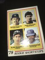 1978 Topps #707 ALAN TRAMMELL & PAUL MOLITOR Rookie Shortstops