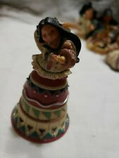 1999 Enesco Friends Of The Feather Angel Singing Bell Figurine