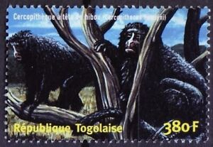 Togo 2001 MNH, Hamlyn's monkey, Owl-faced monkey, Wild Animals
