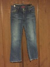So Women's Juniors Size 9 Stretch Jeans Distressed Cut Off