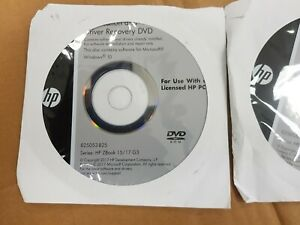 HP ZBook 15/17 G3  Application and Driver Recovery DVD. Brand New Sealed.
