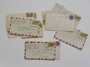 12 Old Letters 1940s Sparta Michigan Collection Lot VTG Stamps Papers USA MI NR