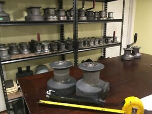 Pair Barient 25 Two Speed Winches with handle