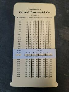 Central Commercial Co Stores Vintage Advertising Slide Rule Kingman Oatman AZ
