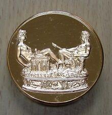 Superbe et énorme médaille Salière François Ier dorée OR fin 24 Carats *L@@K*