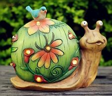 Garden Solar Light Snail Statue Art Sculpture Outdoor Home Decor Lawn Patio Gift
