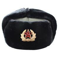 Sowjet Orden Ushanka Russisch Pelzmütze USSR Armee Soldat Winter Ohr #LF eNwrg
